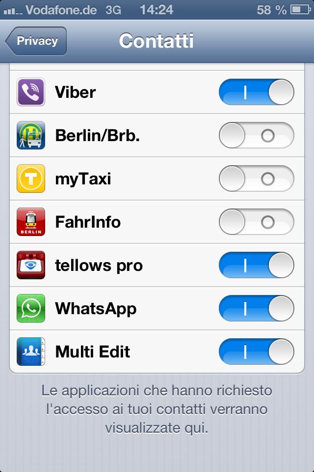Fehlermeldung Tellows App