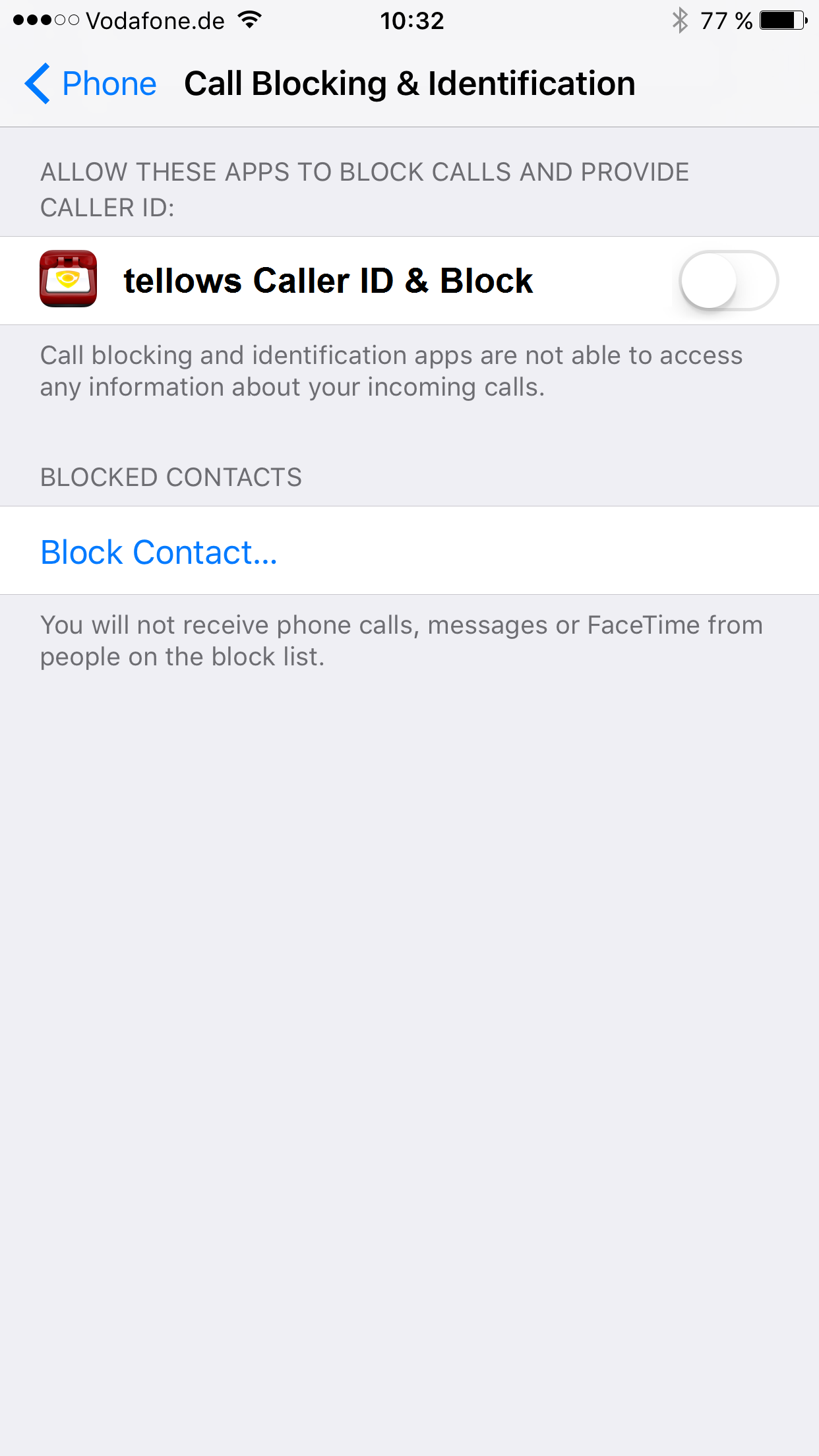 tellows iPhone App - Activating Caller Identification for