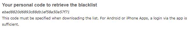 blacklist code