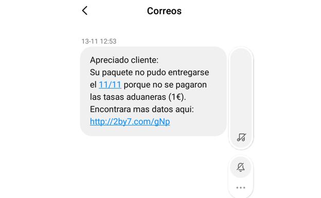 mensaje falso correos