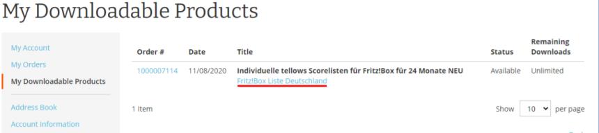 Instructions scroe lists
